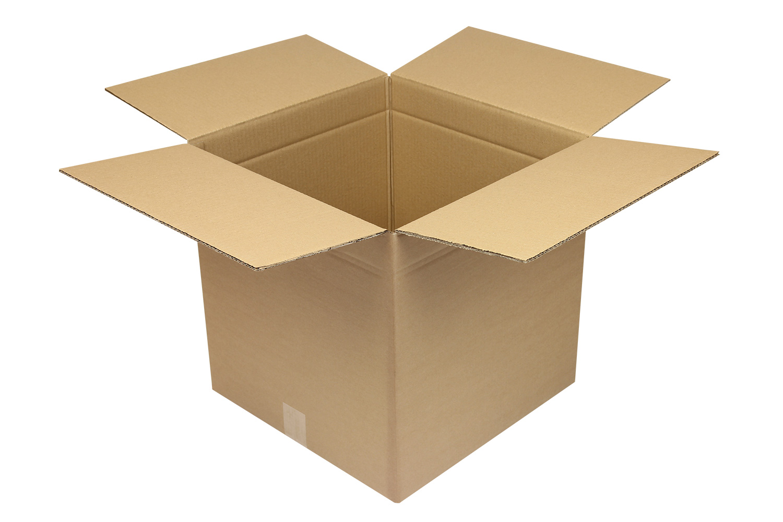 braun 80 Faltkartons 250x250x150mm B-410g//m2 Versandkartons Karton 1-Wellig