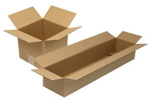 quadratische und lange kartons